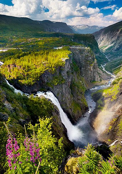 Puzzle Trefl Catarata Voringfossen, Noruega de 1000 Piezas