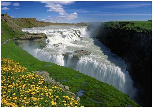 Puzzle Trefl Cataratas del Oro, Islandia de 1000 Piezas