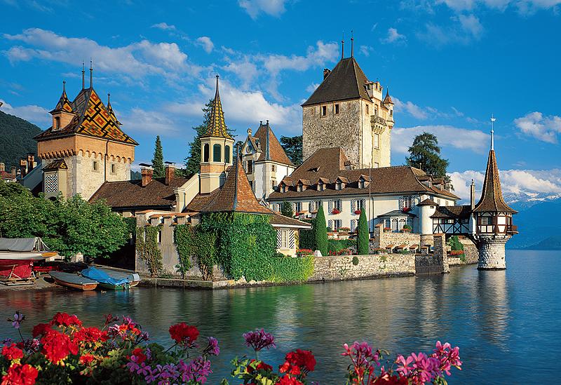 Puzzle Trefl Catillos OverHofen, Suiza de 1500 Piezas