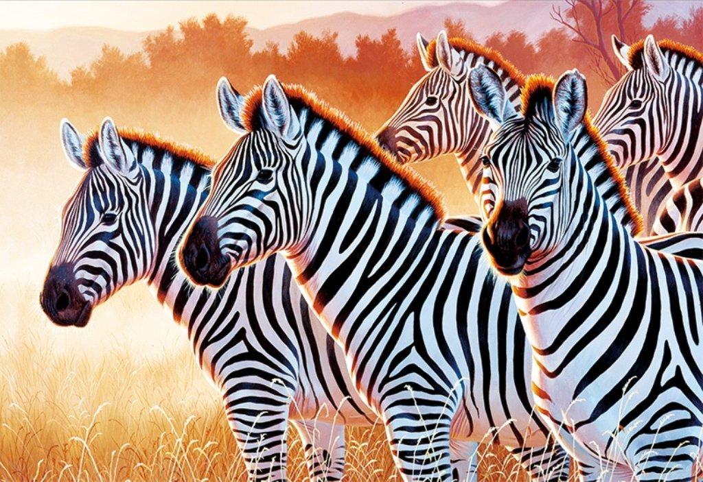 Puzzle Trefl Cebras en Fila de 1500 Piezas
