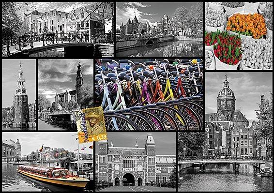 Puzzle Trefl Collage de Amsterdam de 1000 Piezas