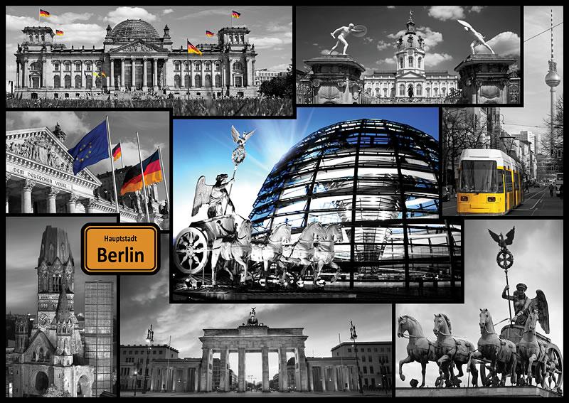 Puzzle Trefl Collage de Berlín de 500 Piezas
