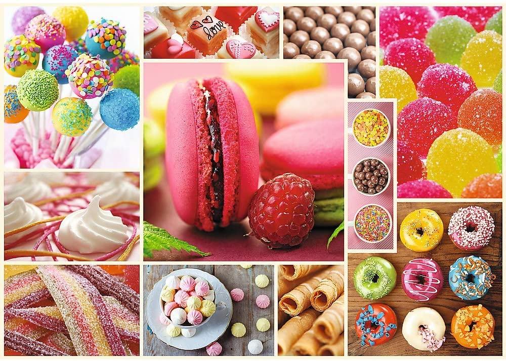 Puzzle Trefl Collage de Dulces de 1000 Piezas