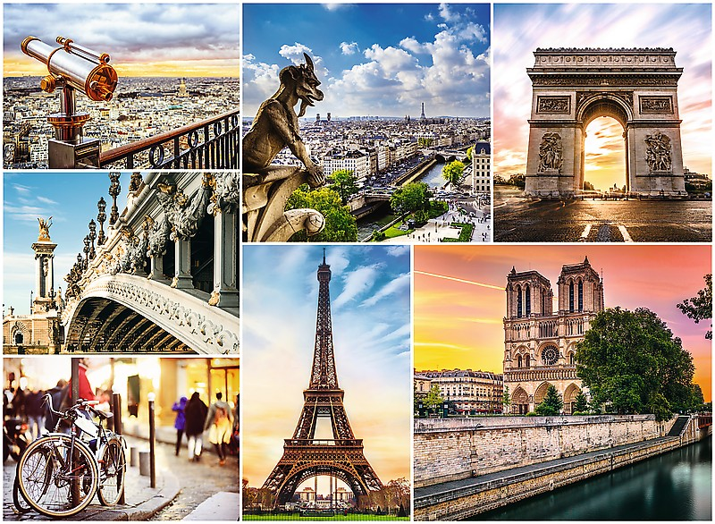 Puzzle Trefl Collage de Imágenes de París de 3000 Piezas
