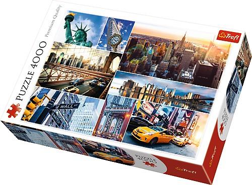 Puzzle Trefl Collage de Imáges de Nueva York 4000 Piezas