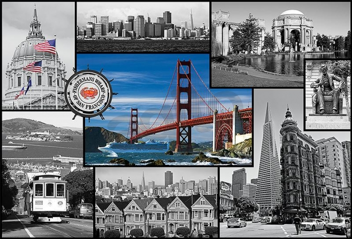 Puzzle Trefl Collage de San Francisco de 1500 Piezas