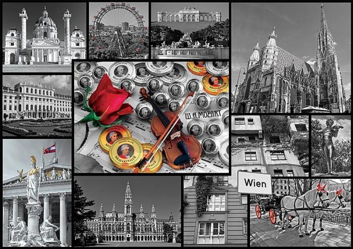 Puzzle Trefl Collage de Viena de 1000 Piezas