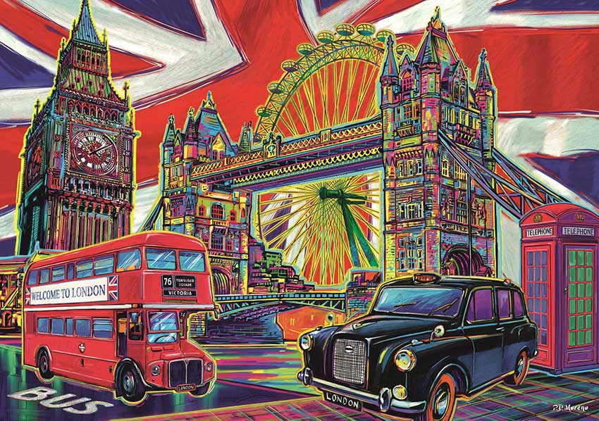 Puzzle Trefl Colores de Londres de 1000 Piezas
