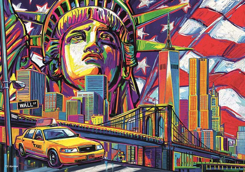 Puzzle Trefl Colores de Nueva York de 1000 Piezas
