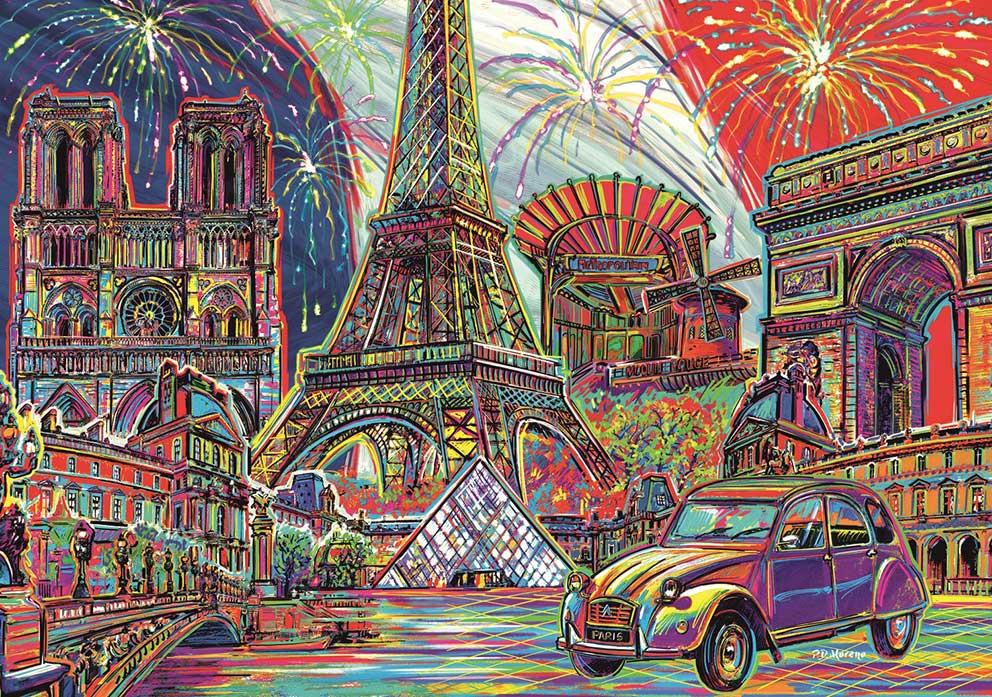 Puzzle Trefl Colores de París de 1000 Piezas