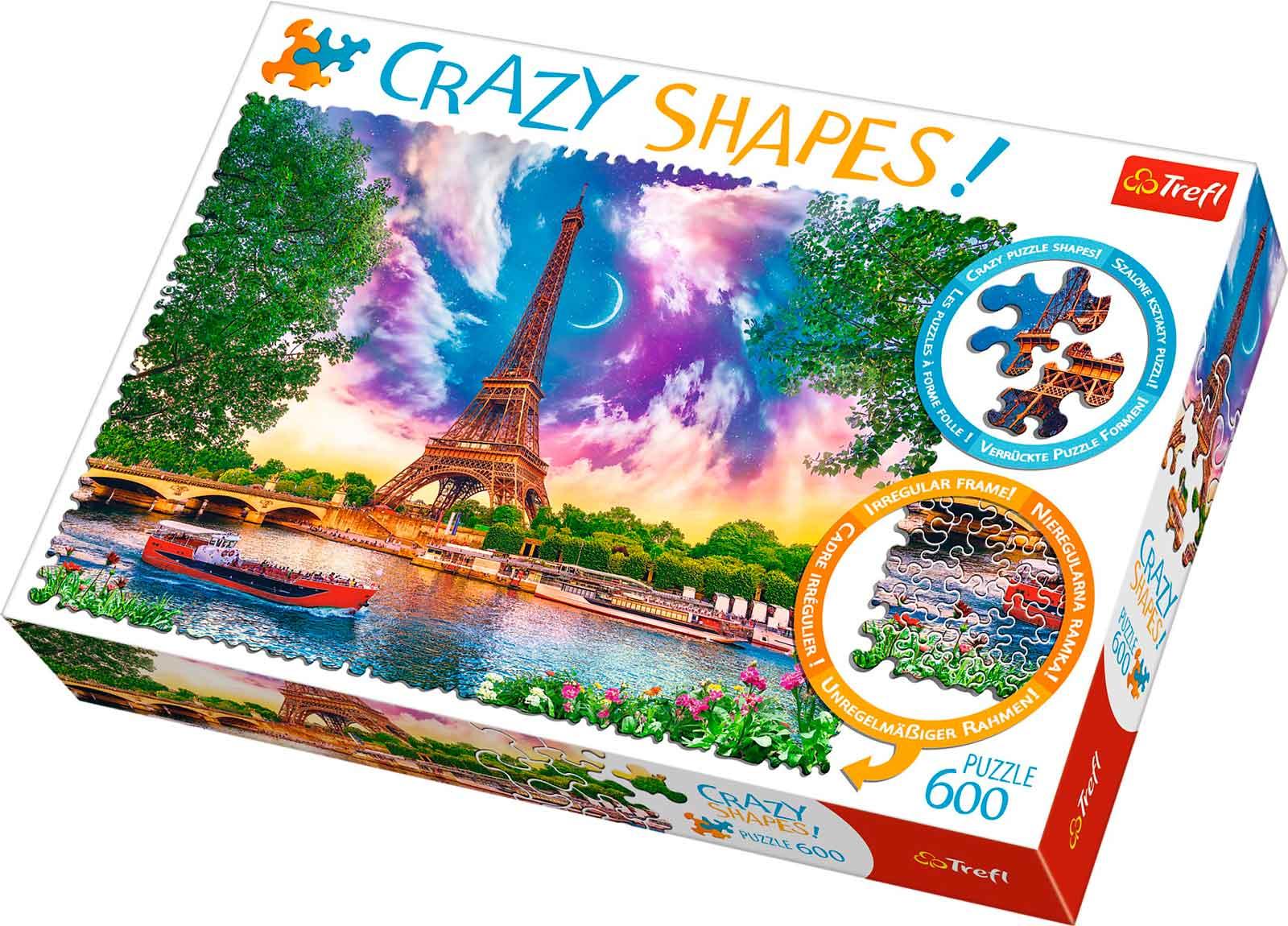 Puzzle Trefl Crazy Shapes Cielo Sobre París de 600 Pzs