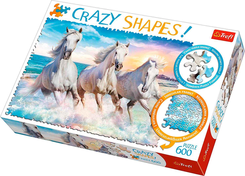 Puzzle Trefl Crazy Shapes Galopando Entre las Olas de 600 Pzs
