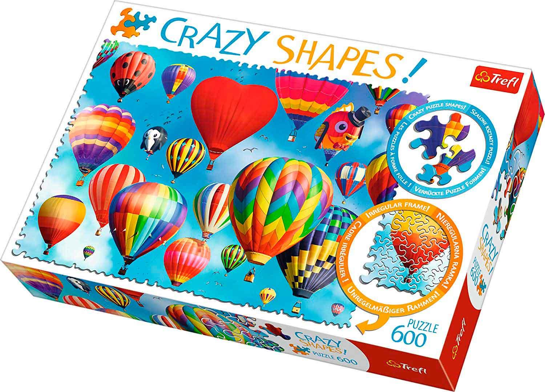Puzzle Trefl Crazy Shapes Globos Coloridos de 600 Pzs