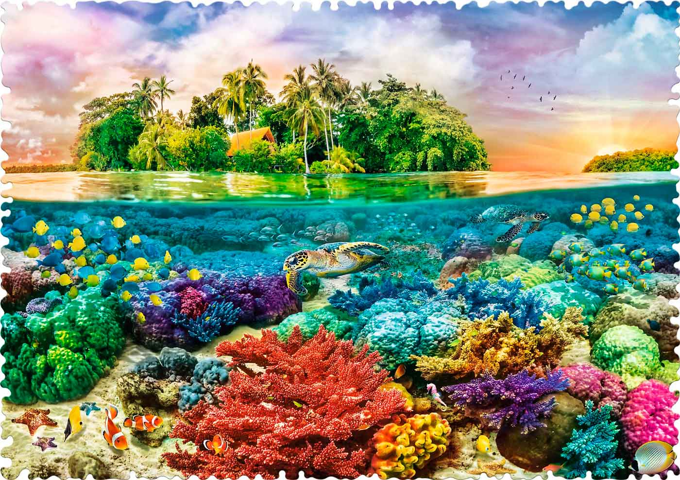 Puzzle Trefl Crazy Shapes Isla Tropical de 600 Pzs