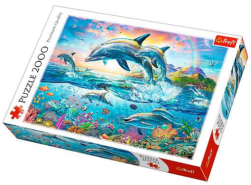 Puzzle Trefl DelfinesFelices de 2000 Piezas