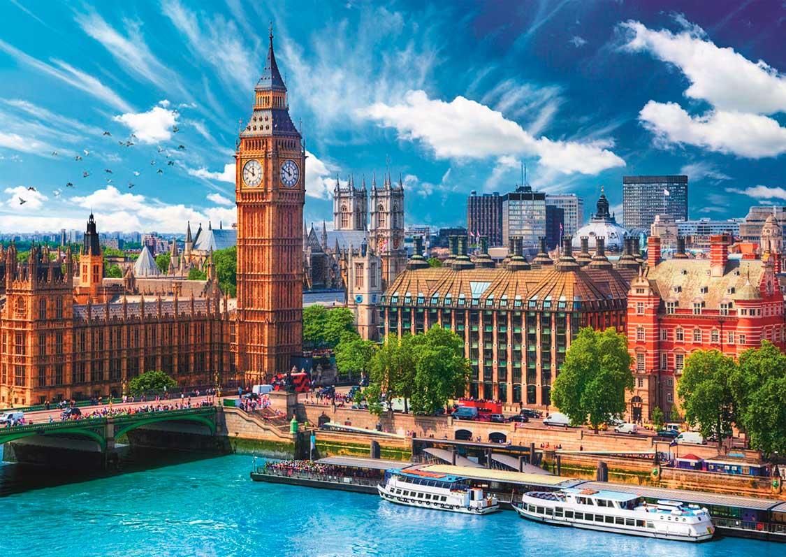Puzzle Trefl Dia Soleado en Londres de 500 Piezas