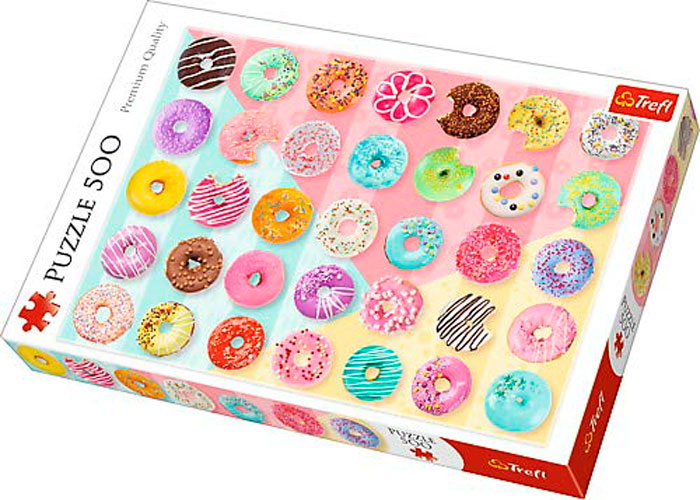 Puzzle Trefl Donuts y Rosquillas de 500 Piezas