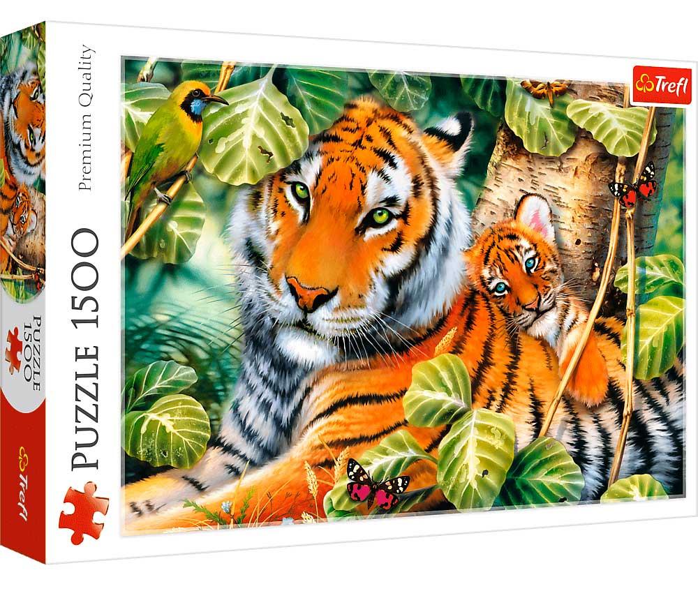 Puzzle Trefl Dos Tigres de 1500 Piezas