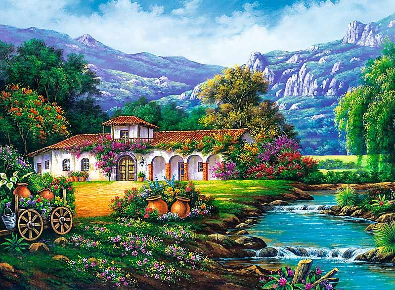 Puzzle Trefl El Arroyo de la Hacienda de 3000 Piezas