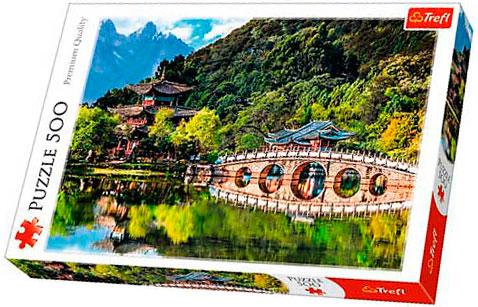 Puzzle Trefl El Estanque del Dragón Negro, Lijiang China de 500