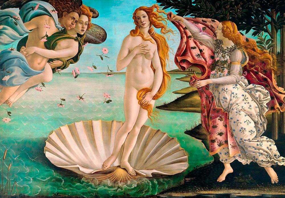 Puzzle Trefl El Nacimiento de Venus de 1000 Piezas