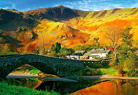 Puzzle Trefl El Puente Derwent, Cumbria, Inglaterra de 1500 Piez