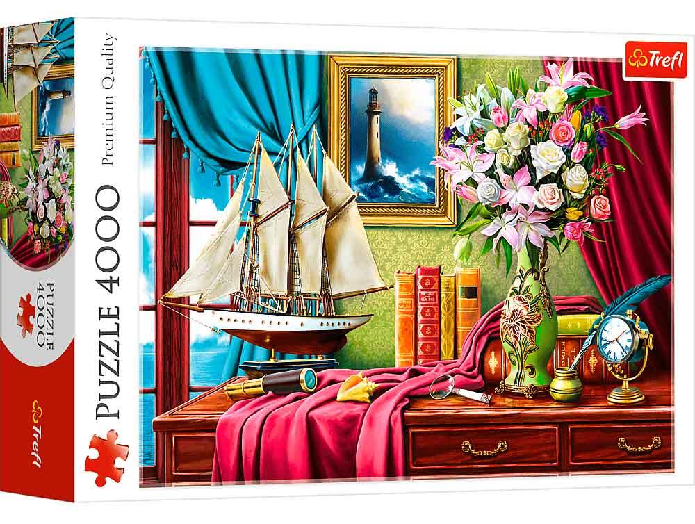 Puzzle Trefl Escritorio de Exploradores de 4000 Piezas