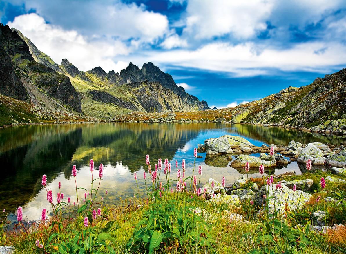 Puzzles de Paisajes, Puzzle Trefl Estanque en las Montañas Tratas, Eslovaquia de 3000