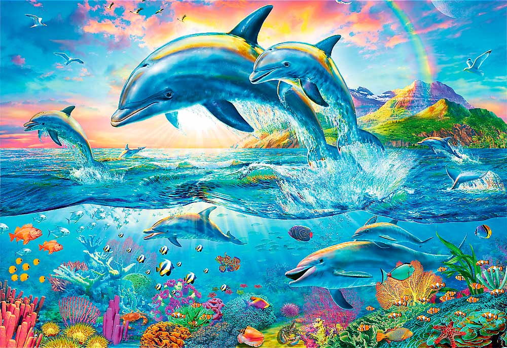 Puzzle Trefl Familia de Delfines de 1500 Piezas