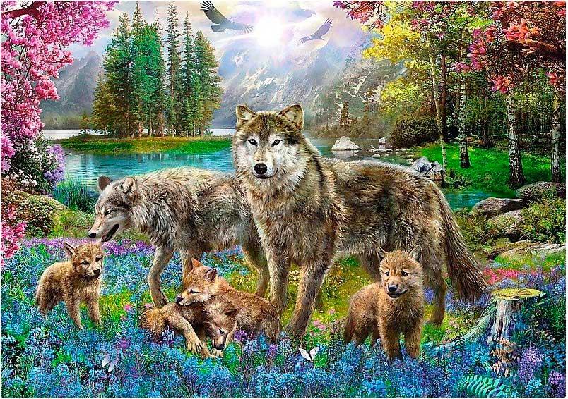 Puzzle Trefl Familia de Lobos de 1000 Piezas