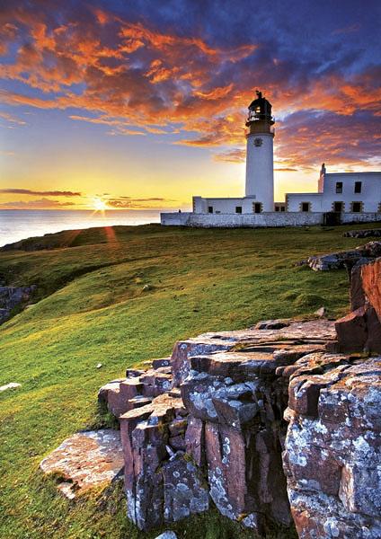 Puzzle Trefl Faro en Escocia de 1000 Piezas