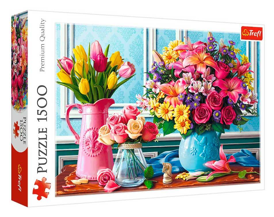 Puzzle Trefl Flores en Jarrones de 1500 Piezas