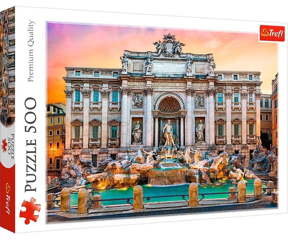 Puzzle Trefl Fontana de Trevi, Roma de 500 Piezas