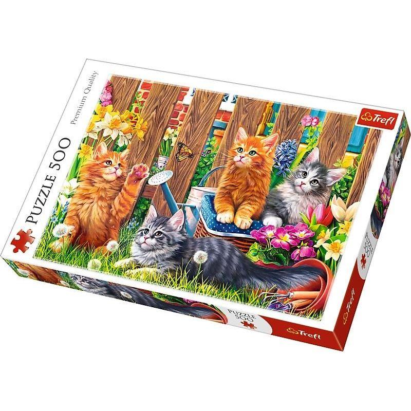 Puzzle Trefl Gatitos en el Jardín de 500 Piezas