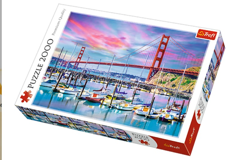 Puzzle Trefl Golden Gate, San Francisco de 2000 Piezas