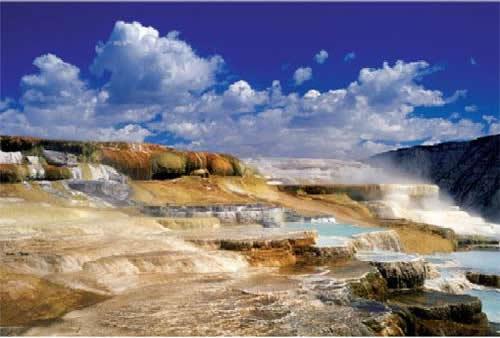 Puzzle Trefl Hot Springs, Parque Nacional Yellowston, USA de 200