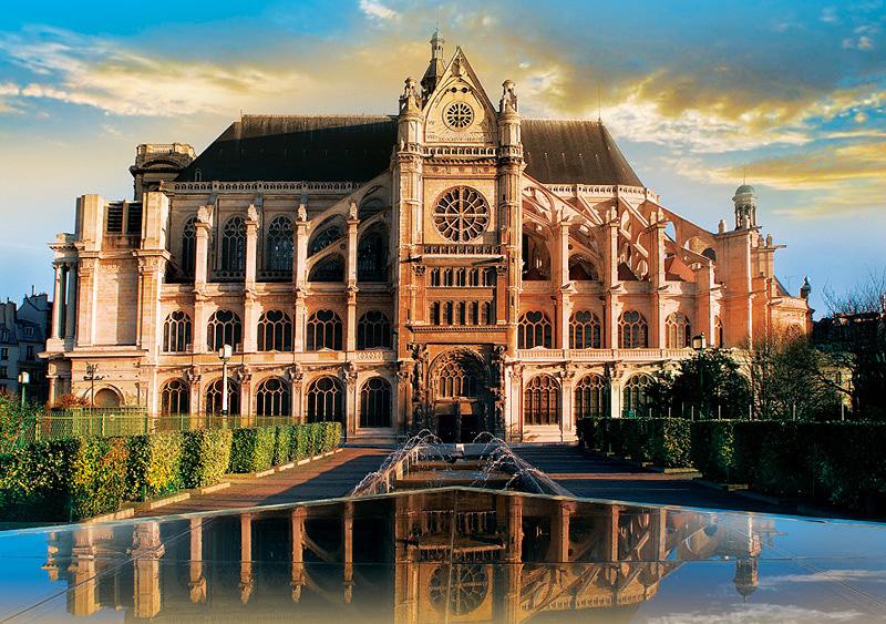 Puzzle Trefl Iglesia de San Eustaquio, París de 1000 Piezas