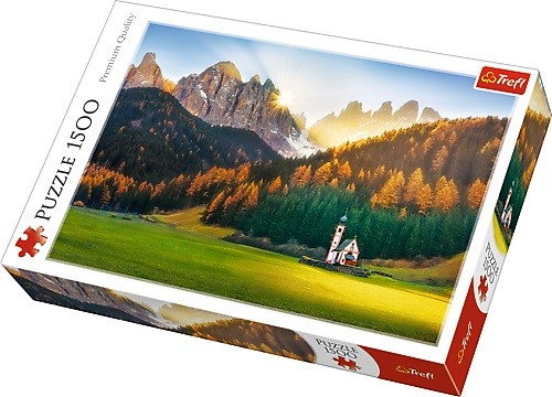 Puzzle Trefl Iglesia en Dolomitas, Italia de 1500 Piezas