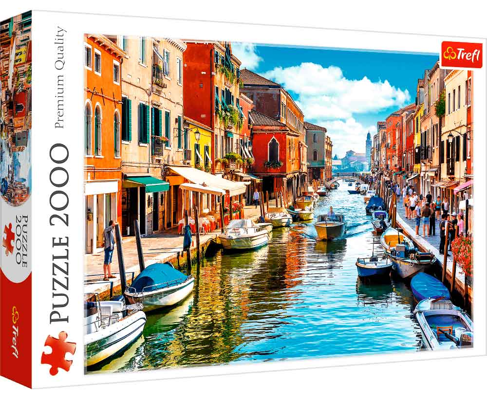 Puzzle Trefl Isla de Murano, Venecia de 2000 Piezas