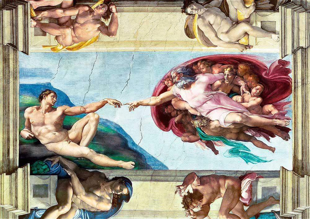 Puzzle Trefl La Creación de Adán de 1000 Piezas