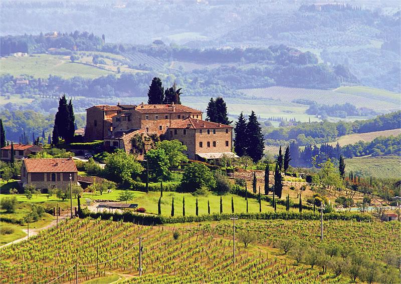 Puzzle Trefl La Toscana, Italia de 500 Piezas