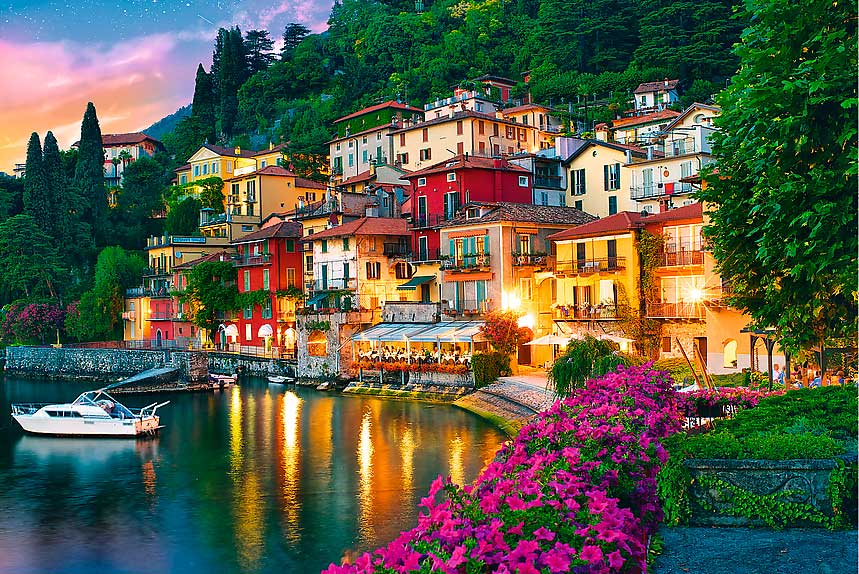Puzzle Trefl Lago Como, Italia de 500 Piezas