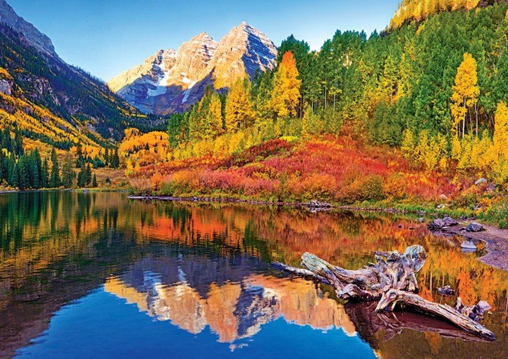 Puzzle Trefl Lago Maroon, Aspen de 1000 Piezas