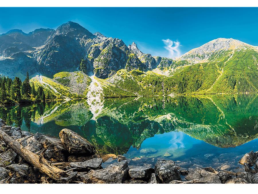 Puzzle Trefl Lago Morskie Oko, Polonia de 1500 Piezas
