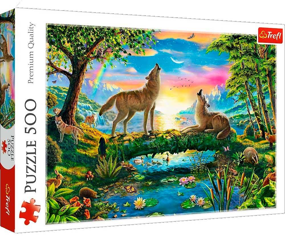Puzzle Trefl Lobos en la Naturaleza de 500 Piezas