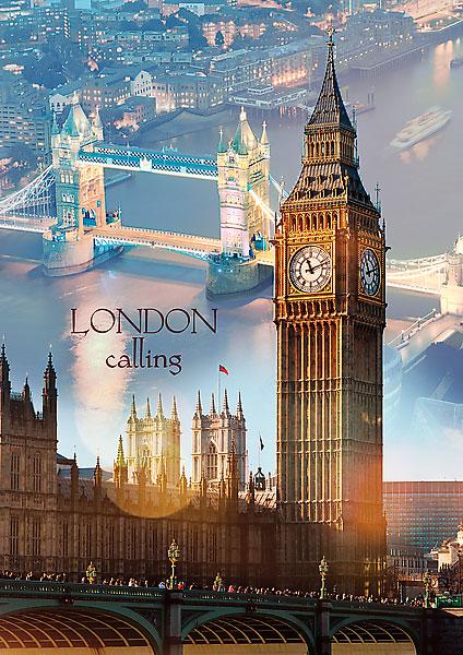 Puzzle Trefl Londres al Atardecer de 1000 Piezas
