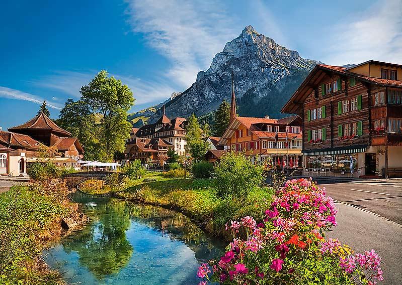 Puzzle Trefl Los Alpes en Verano de 2000 Piezas