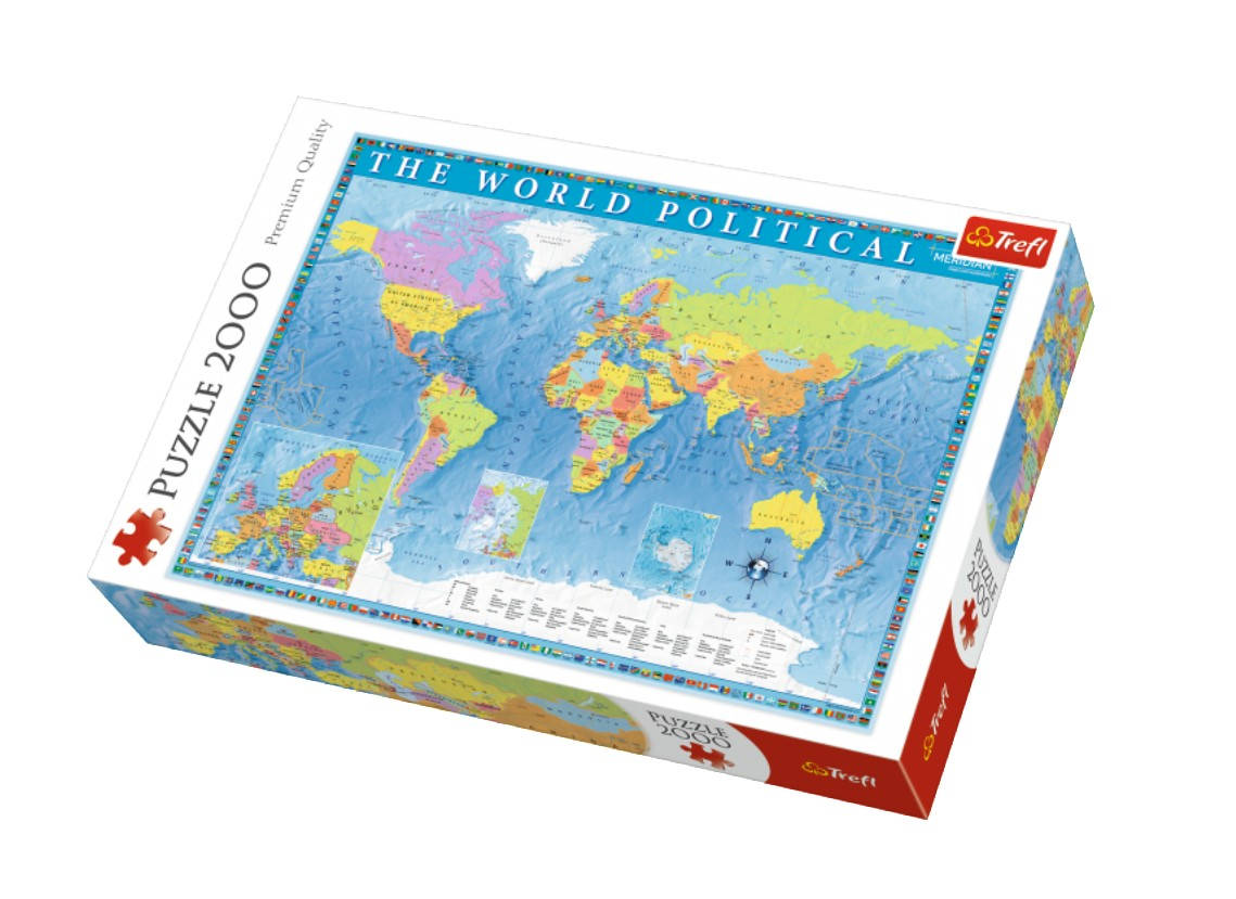 Puzzle Trefl Mapa Político del Mundo de 2000 Piezas