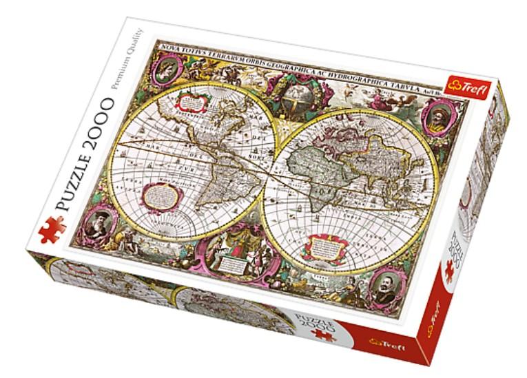 Puzzle Trefl Mapamundi Antiguo de 2000 Piezas