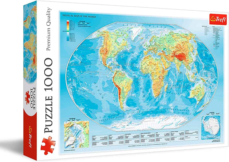 Puzzle Trefl Mapamundi Físico de 1000 Piezas